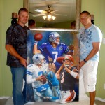 2010- John Kitna receiving his #oneofakind painting.