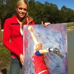 American Softball Superstar Jennie Finch.