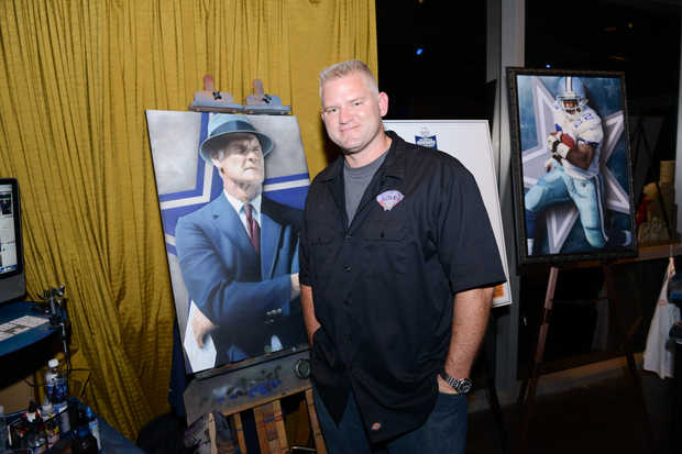 """Rob Jackson"" ""Art"" ""Tom Landry"" Taste of the NFL"" ""Dallas"" ""Cowboys"" ""Glass Cactus"""