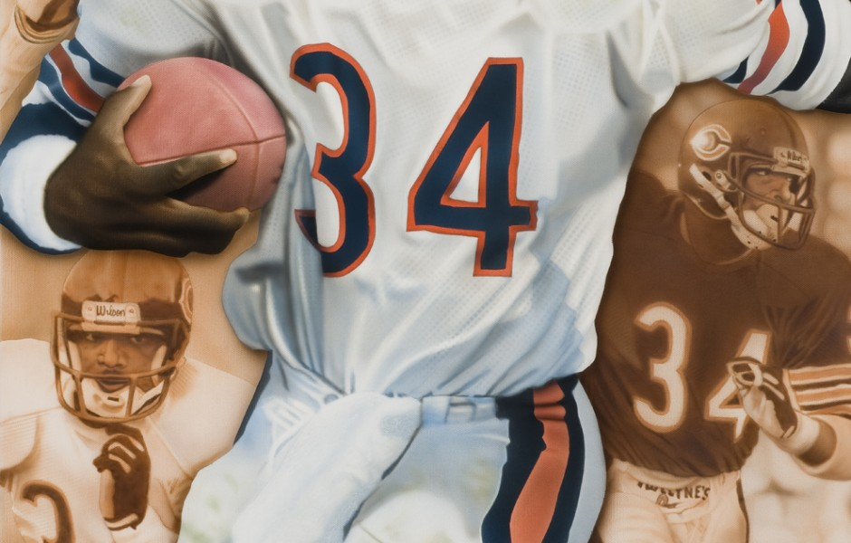 """Walter"" ""Payton"" ""Chicago"" ""Bears"" ""NFL"" ""Sports Art"" ""Sports Artist"" ""Airbrush"" ""Deacon Jones"" ""Foundation"" ""Sweetness"" ""Man of the Year"""
